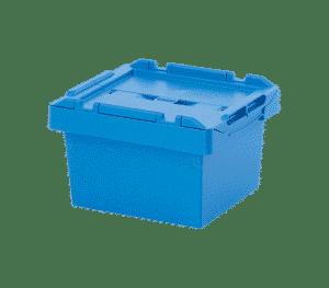 Behållare med integrerat lock 4324, 400x300x240 mm