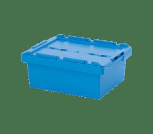 Behållare med integrerat lock 6424, 600x400x240 mm