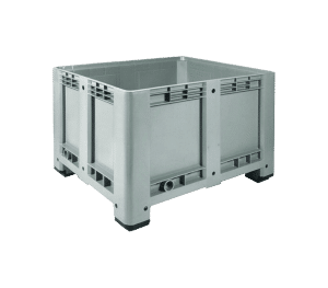 Strong industrial box/ Reinforced plastic box/ Large box for industrial use/ Solid walls industrial box