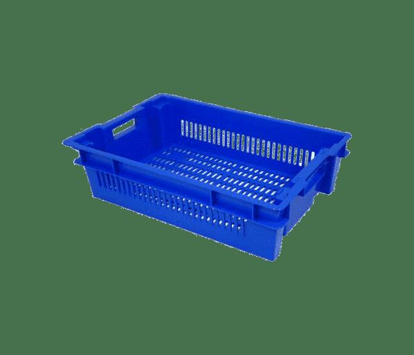 Trav- och stapelbar låda P-6415, 600x400x150 mm