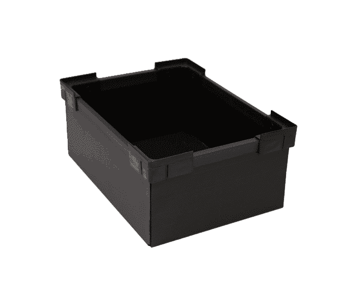 Corrugated stackable boxes/ Corrugated Light Duty stackable box/ container/ tote