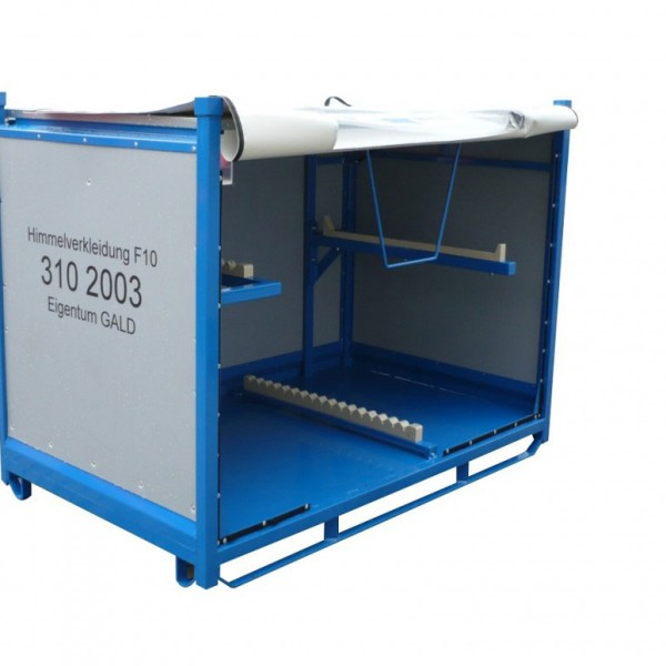 Metallpalettenbehälter, Holzpaletten und Gitterboxen