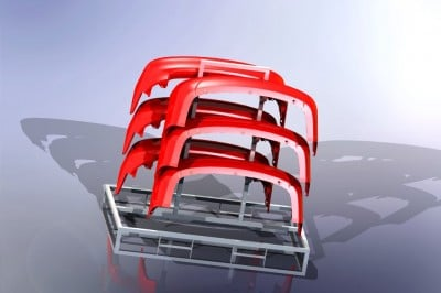 Customized metal racks/ Racks in special sizes made of metal/ Storage metal racks
