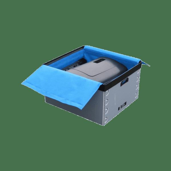 Textilverkleidungen, Tyvek und Spunbond Trennungen für Boxen