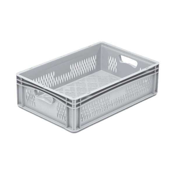 Stackable Euro Boxes/Containers/Totes, perforated walls and base 600x400x170 mm