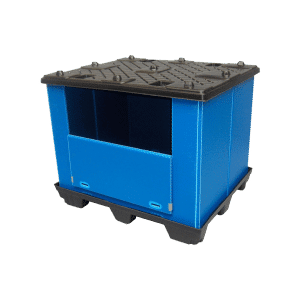 Ecopack foldable container/ Plastic recyclable foldable container/ Ecopack plastic folding container