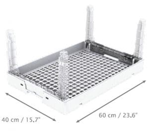transparent plastic crate/ tray/ display transparent crate/ tray