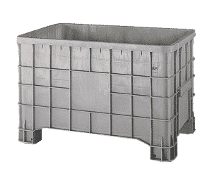 Rigid pallet container/ Solid pallet container with legs