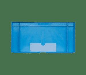 Svetsade transparent etiketthållare för lådor och behållare