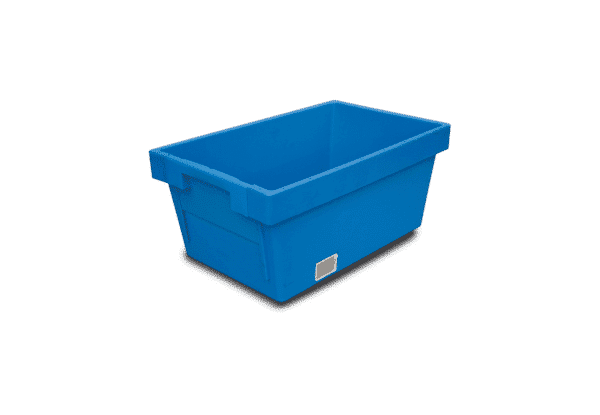 Solid nestable container with sliding wall/ Solid nest container sliding wall/ Solid nest box/crate with sliding wall