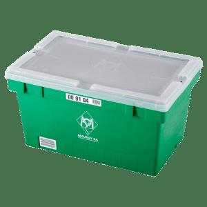 Stapelbar behållare för läkemedelsindustrin