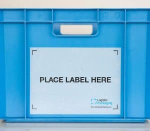 Placard Label holder for returnable plastic boxes and containers / Label pocket
