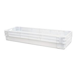 Solid container with half perforated sides /Solid plastic container half perforated sides /Solid EURO container perforated sides