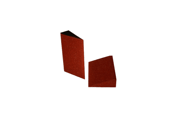 Foam wedge for pallet/ foam separator for pallets/ foam separator between products on pallet