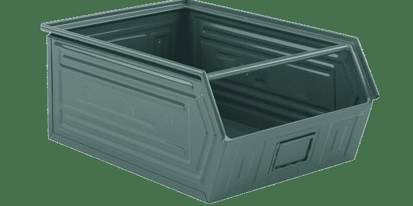 metallic bins