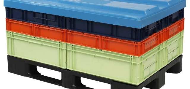 plastic pallets and pallet lids