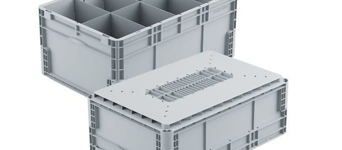 Logibox double walled container for intralogistics